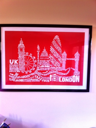 Original print by my friends and co-workers at Frameworks, London