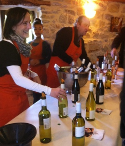 At wine tastings there's a party going on!
