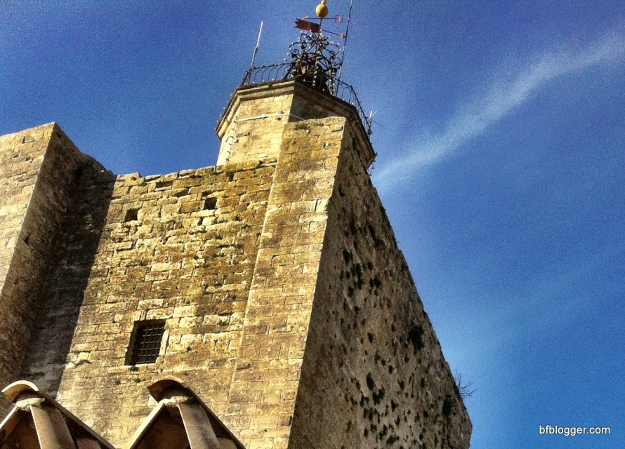 wind in the bell tower Uzes, France