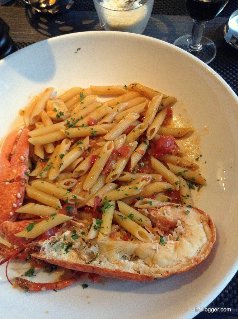 Lobster with Rigatoni at La Favola in Nice