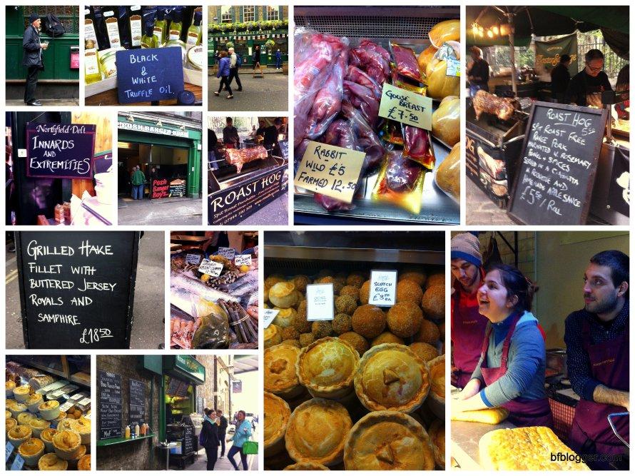 Borough market collage