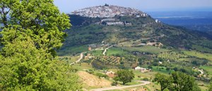 Basilicata Region, Italy Volcanic Mount Vulture in the background