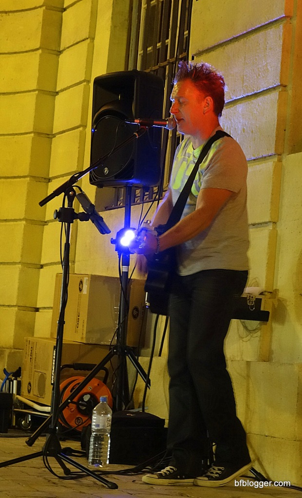 Musicians take their places at the Mairie