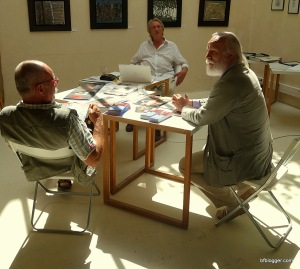 Artists at Galerie La Verriere. Exhibition August 1 to Septemer 15, 2014.