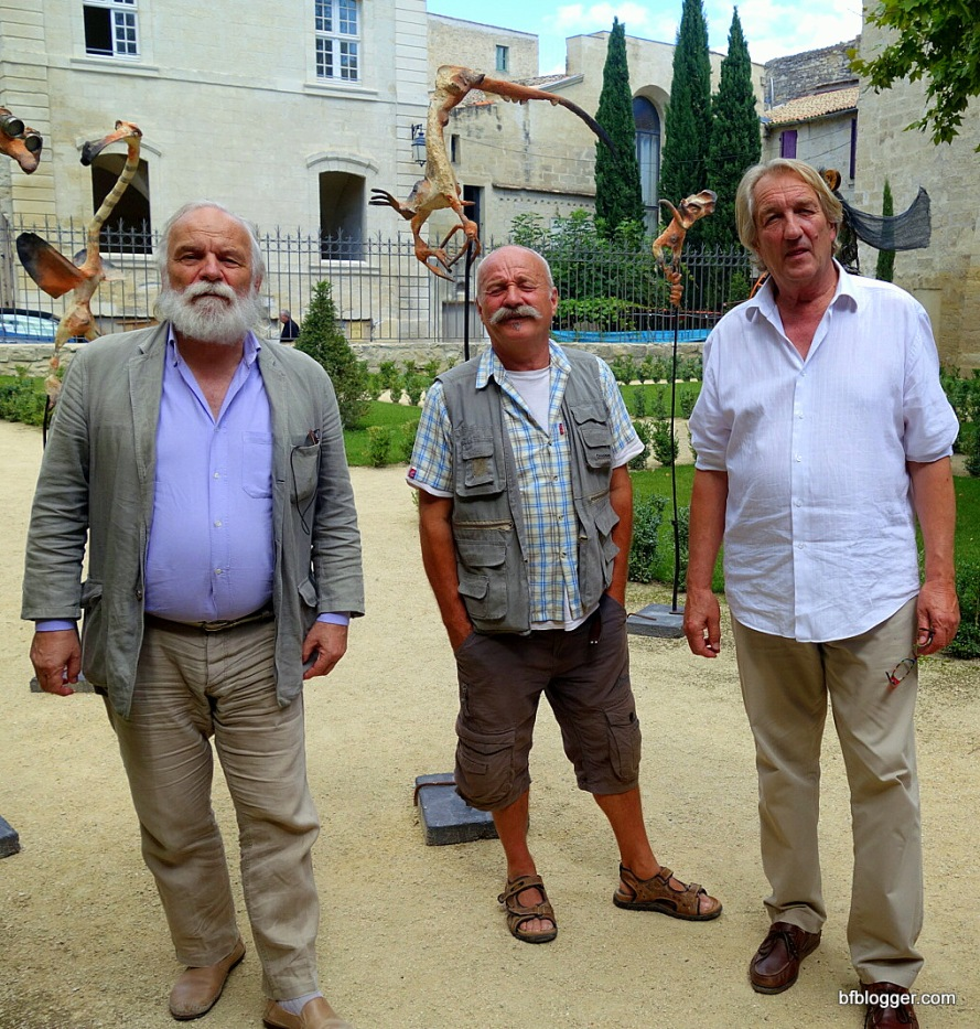 The artists at Galerie La Verriere