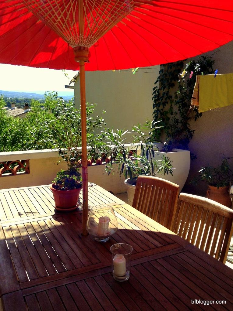 Carola's terrace in Caromb