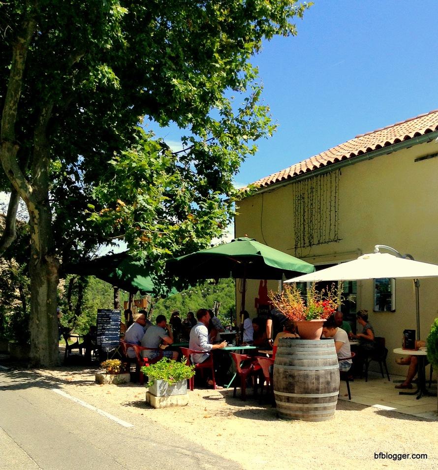 Village cafe in Barroux