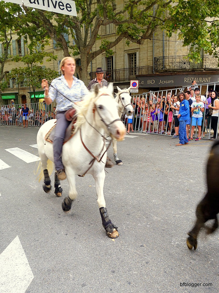 Horse woman from Camargue
