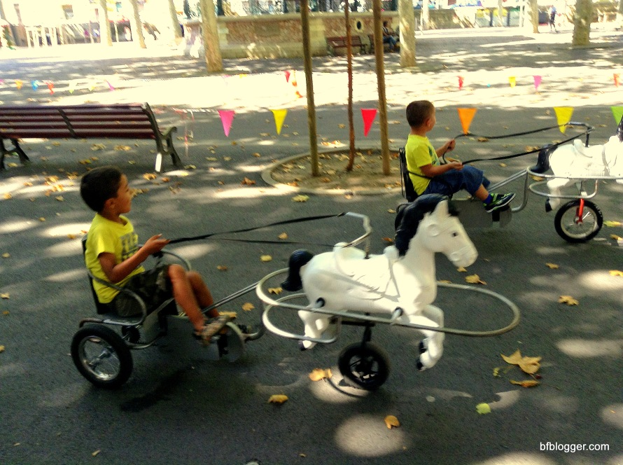 Children actually LOVE getting the exercise racing each other on their make-believe ponies