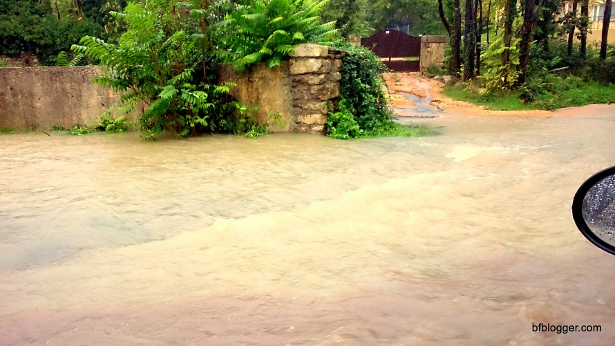 Flood waters outside Uzes