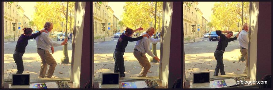 Artist dancing in the street
