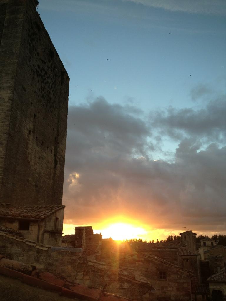 Last night's sunset from my terrace