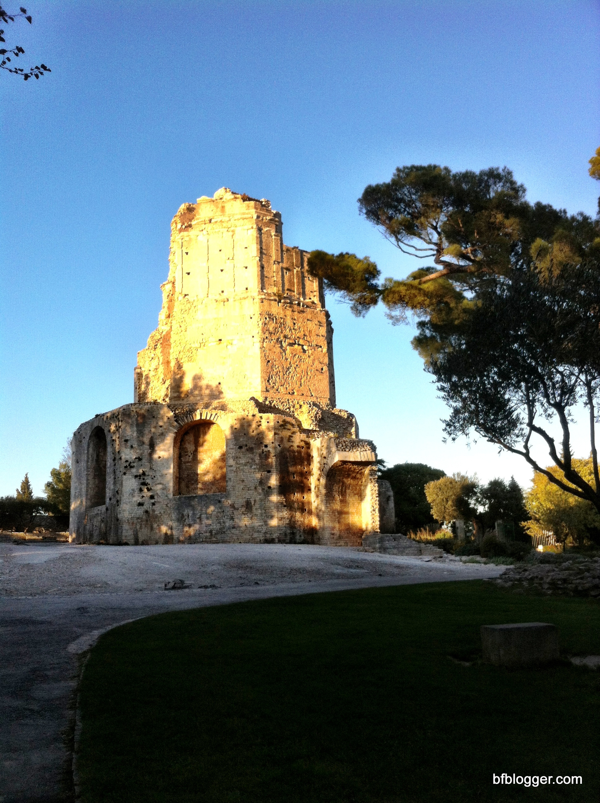 In awe of the french history preserved barefoot blogger - Tour magne nimes ...