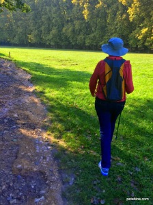 Me with my proper trekking pole at the Vallee de l'Eure