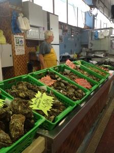 City market oyster merchant in Sete