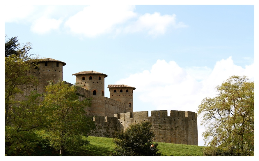 The medieval walled city of Carcassonne in the Languedoc region of France
