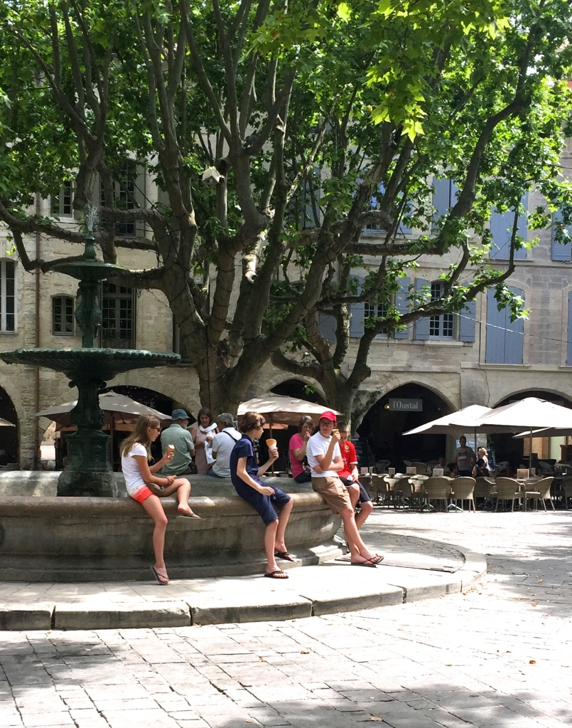 Fountain at Place aux Herbes, Uzes