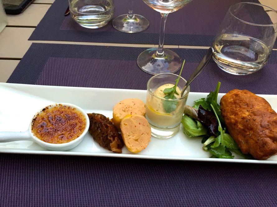 Foie grae entree at Le Comptoir 7 in Uzes