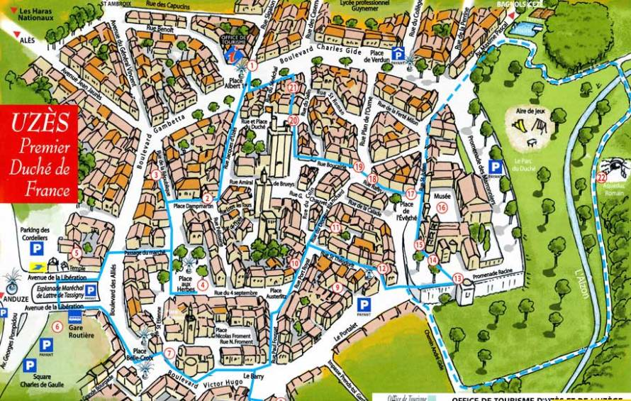 Map of Historic Uzes
