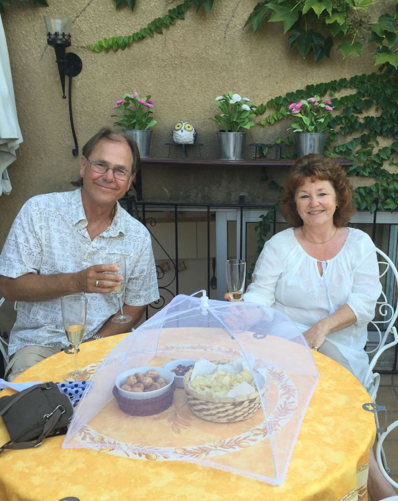 Sue and Robin enjoying a happy day in Uzes
