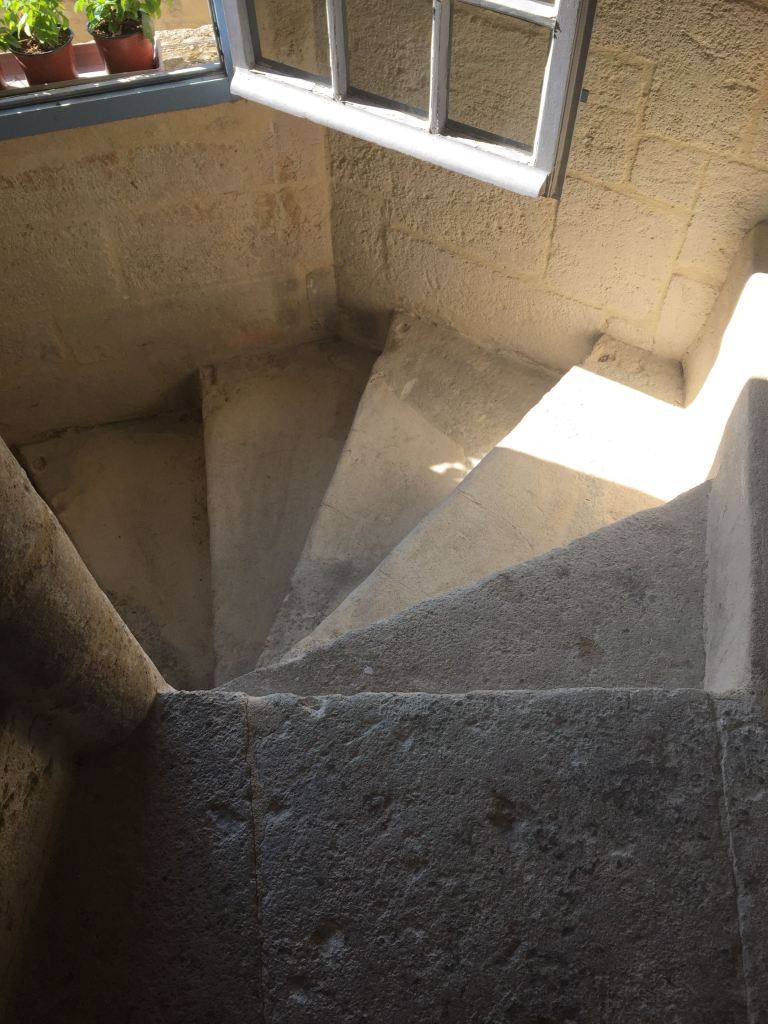 Narrow spiral staircases are everywhere