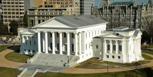 Virginia State Capitol Building in Richmond, VA