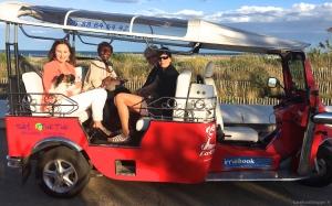 Tuk-tuk ride to the beach in Sete