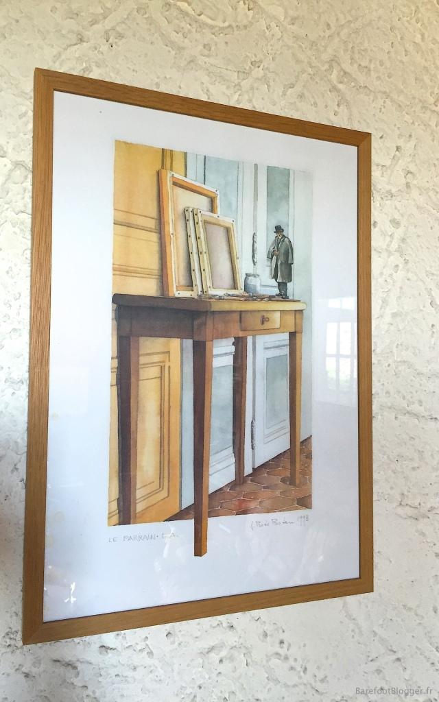 Artwork displayed in Memin home