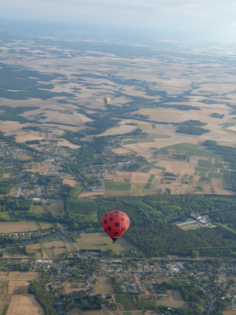 Balloon over Chateau at Chenonceau and the Loire Valley