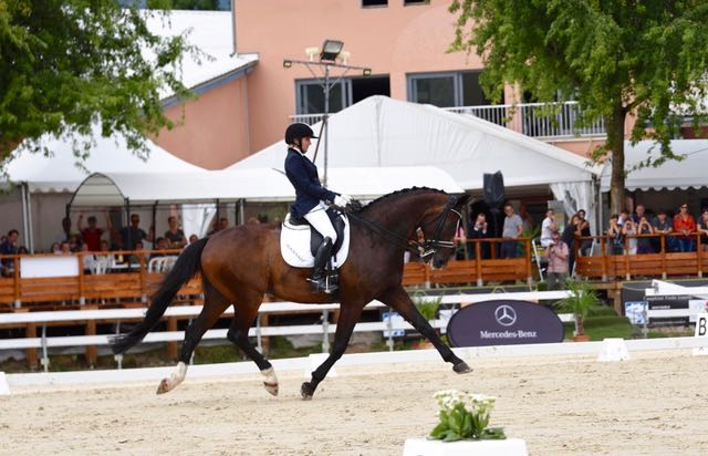 Verity Smith in dressage competition