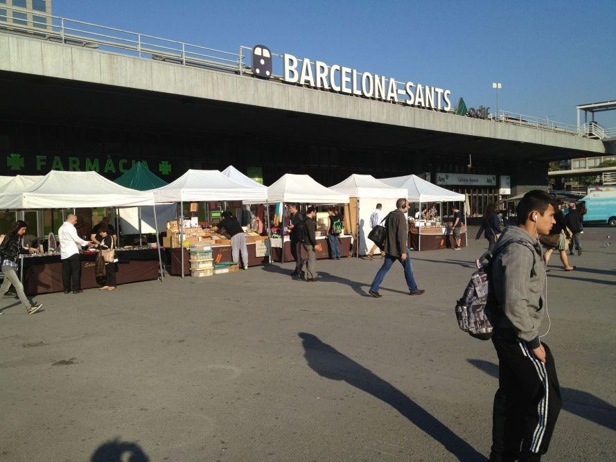 Santa Railway Station in Barcelona